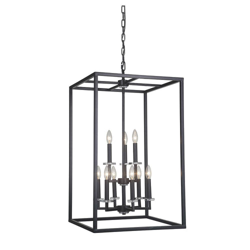 Mariana Home - Graham Nine Light Pendant - Bronze Finish - 600973