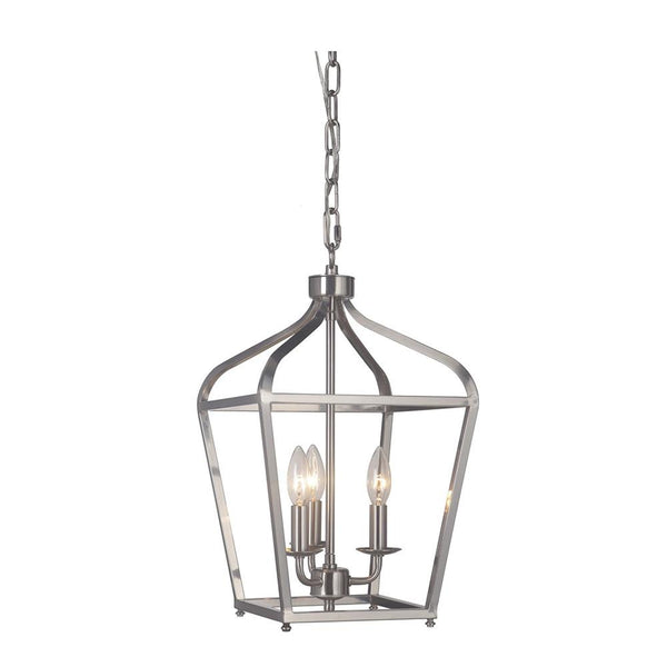 Mariana Home - Pierre Three Light Lantern - Satin Nickel Finish - 610345