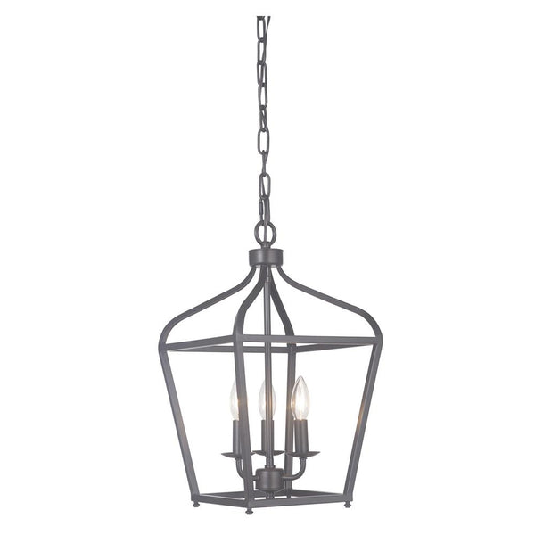 Mariana Home - Pierre Three Light Lantern - Urban Bronze Finish - 610383