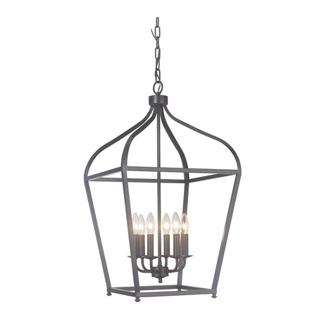 Graham 6 Light Pendant - Bronze