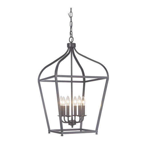 Mariana Home - Pierre Six Light Lantern - Urban Bronze Finish - 610683