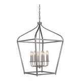 Mariana Home - Pierre Eight Light Lantern - Satin Nickel Finish - 610845