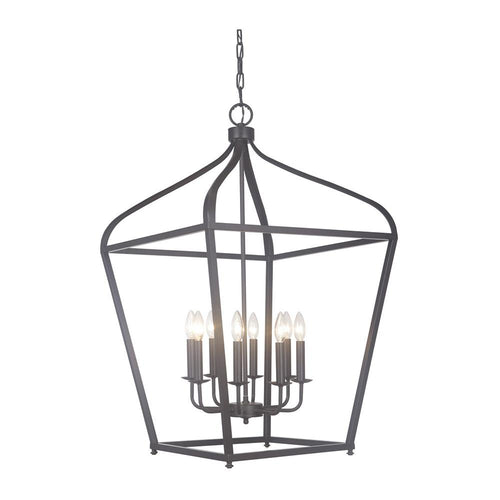 Mariana Home - Pierre Eight Light Lantern - Urban Bronze Finish - 610883