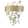 Mariana Home - Elvia Three Light Wall Sconce - Gold Finish with Crystal Accents - 620311