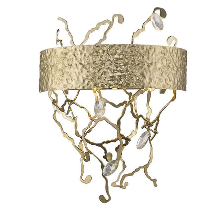 Saville LED Wall Sconce - Silver Leaf