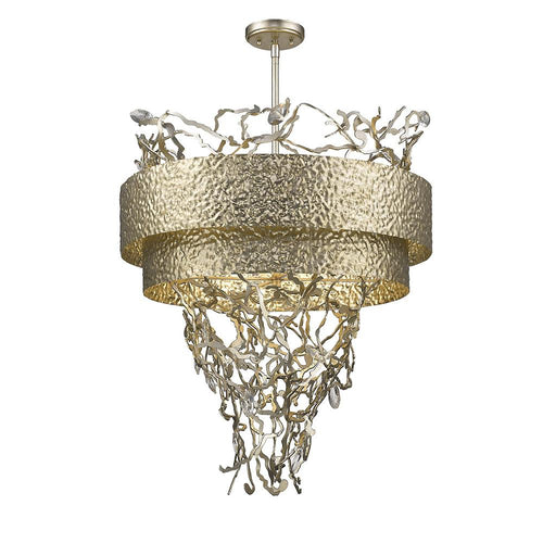 Mariana Home - Elvia Six Light Pendant - Gold Finish with Crystal Accents - 620611