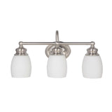 Mariana Home - Artisan Three Light Bath Vanity - Satin Nickel Finish - 629345