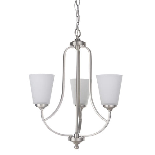 Mariana Home - Hugo Three Light Chandelier - Satin Nickel Finish - 630345
