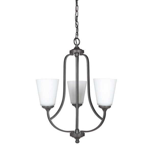 Mariana Home - Hugo Three Light Chandelier - Urban Bronze Finish - 630383