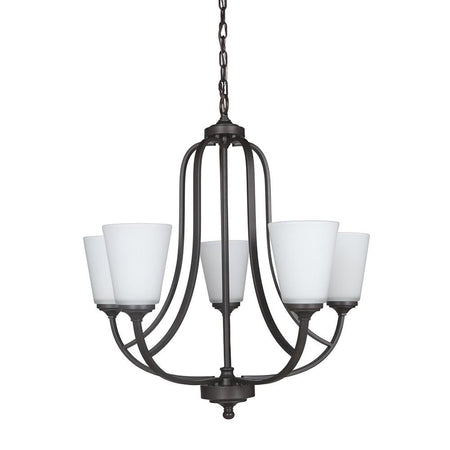Halcyon 5 Light Dual Mount Pendant/Semi Flush