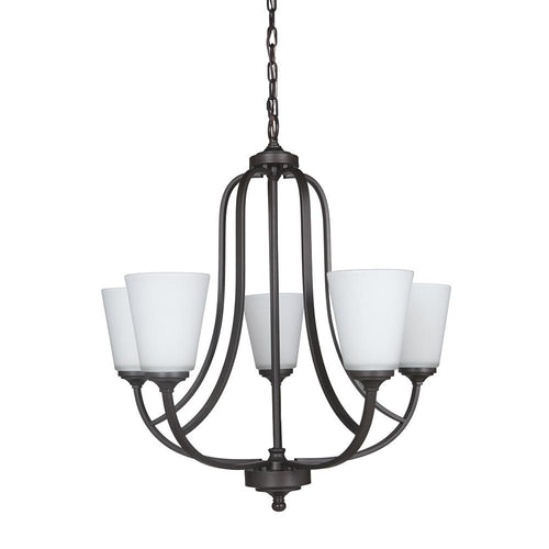Mariana Home - Hugo Five Light Chandelier - Urban Bronze Finish - 630583