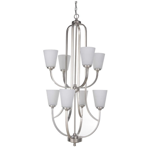 Mariana Home - Hugo Eight Light Chandelier - Satin Nickel Finish - 630845