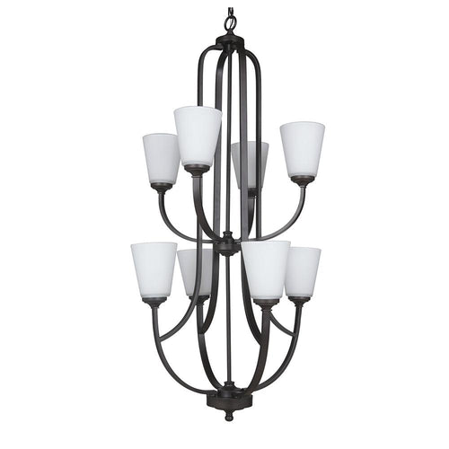 Mariana Home - Hugo Eight Light Chandelier - Urban Bronze Finish - 630883