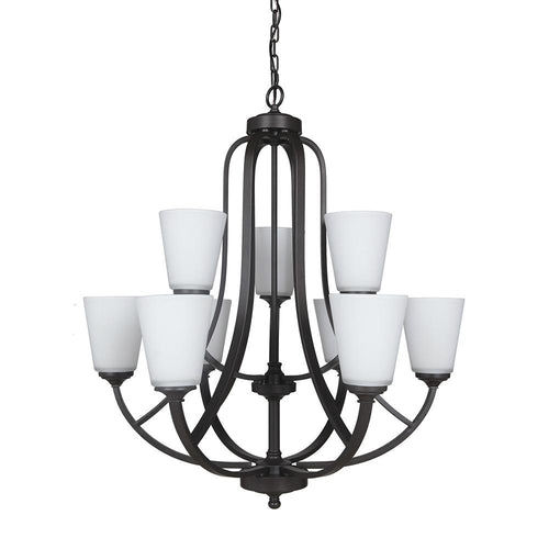 Mariana Home - Hugo Nine Light Chandelier - Urban Bronze Finish - 630983