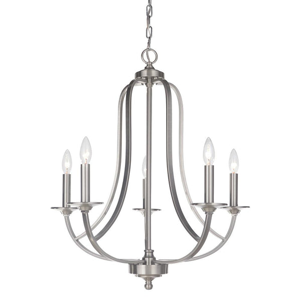 Mariana Home - Nicola Five Light Chandelier - Satin Nickel Finish - 635545