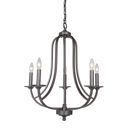 Mariana Home - Nicola Five Light Chandelier - Urban Bronze Finish - 635583