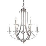 Mariana Home - Nicola Nine Light Chandelier - Satin Nickel Finish - 639945