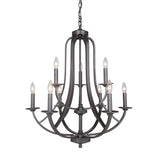 Mariana Home - Nicola Nine Light Chandelier - Urban Bronze Finish - 639983