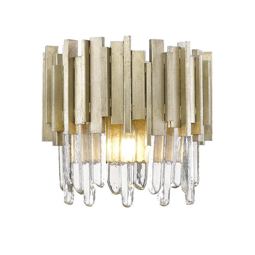 Mariana Home - Lena One Light Wall Sconce - Silver Leaf Finish - 650134