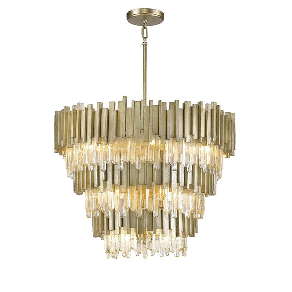 Mariana Home - Lena 13 Light Pendant - Silver Leaf Finish - 651334