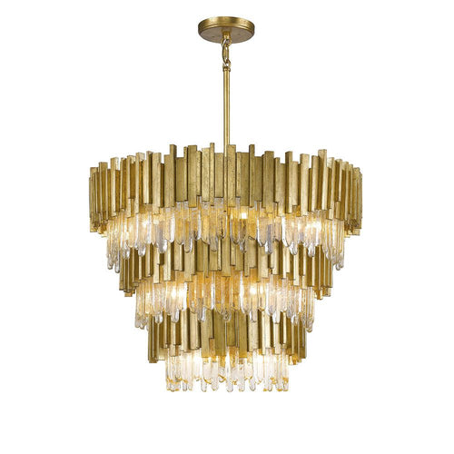 Mariana Home - Lena 13 Light Pendant - Gold Leaf Finish - 651346