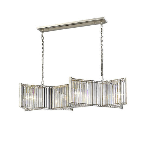 Mariana Home - Marjorie Four Light Kitchen Island Chandelier - Silver Finish - 664414