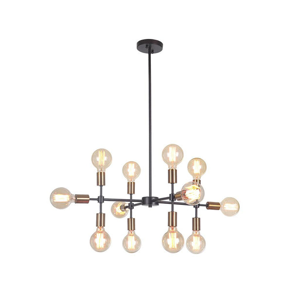 Mariana Home - Phoenix 12 Light Chandelier - Bronze Finish with Brass Accents - 801274