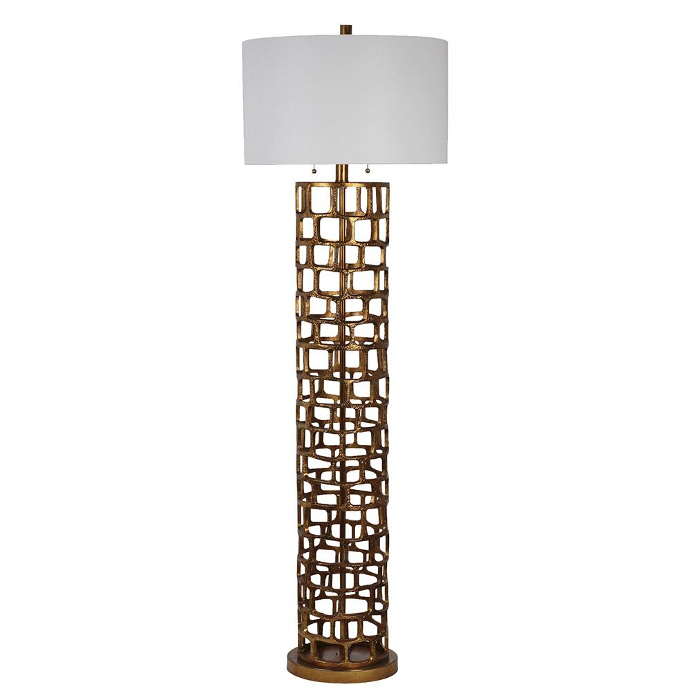 Edison Floor Lamp - Gold | Mariana Home