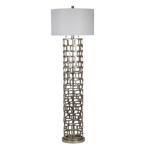 Floor lamps mariana home mariana home edison floor lamp silver leaf finish 830017 aloadofball Gallery