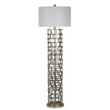Mariana Home - Edison Floor Lamp - Silver Leaf Finish - 830017