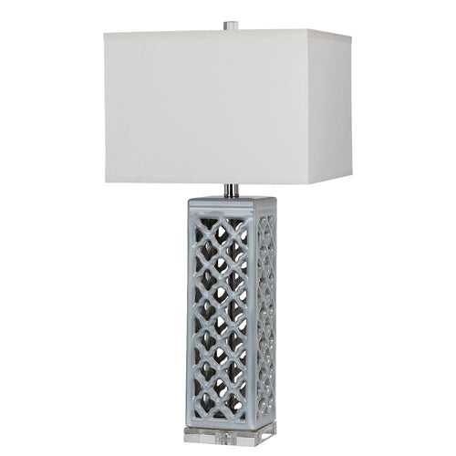 Mariana Home   Blue Ceramic Ingrid Table Lamp   830018