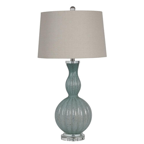 Mariana Home - Fiona Table Lamp - Blue Art Glass with Gold Fleck Accents - 830021
