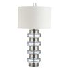 Mariana Home - Loreli Table Lamp - Silver Leaf Finish and Crystal Base Sections - Modern and Industrial - 830031