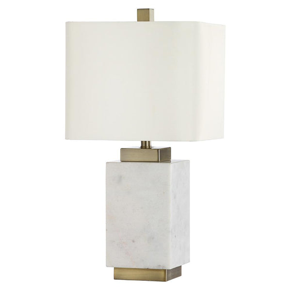 Mariana Home - Audra Table Lamp - White Marble Body with Antique Brass Base Finish - 830032