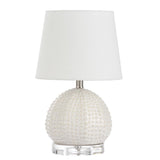 Mariana Home - Isla White Ceramic Table Lamp - Satin Nickel - Coastal Style - 830035