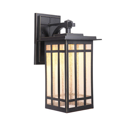 Seneca One Light Large Outdoor Wall Lantern - Black