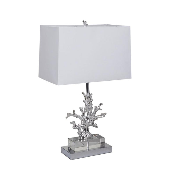Mariana Home - Modern Twig One Light Table Lamp - Metallic Finish - Crystal - 970106