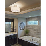 Drum Pendant - Satin Nickel - Medium