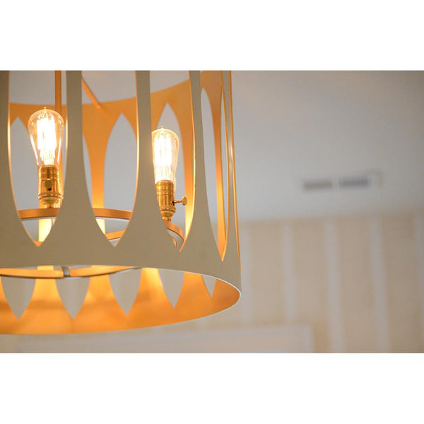 Maddox 6 Light Pendant - Ivory and Gold