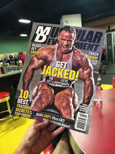 Autographed Muscular Development Cover