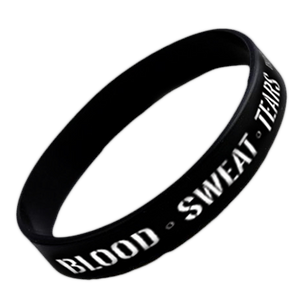 Blood Sweat Tears Silicon Wristband