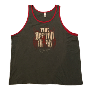 The Boston Mass Ringer Tank (Grey/Red)