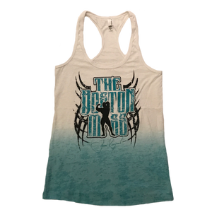 The Boston Mass Ladies Racerback (Tie Dye/Turquoise)