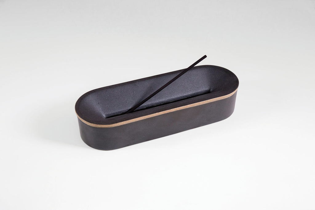 Porcelain Incense Burner - Black
