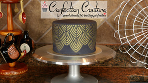 How to Airbrush Fondant Cake with Confection Couture Stencils