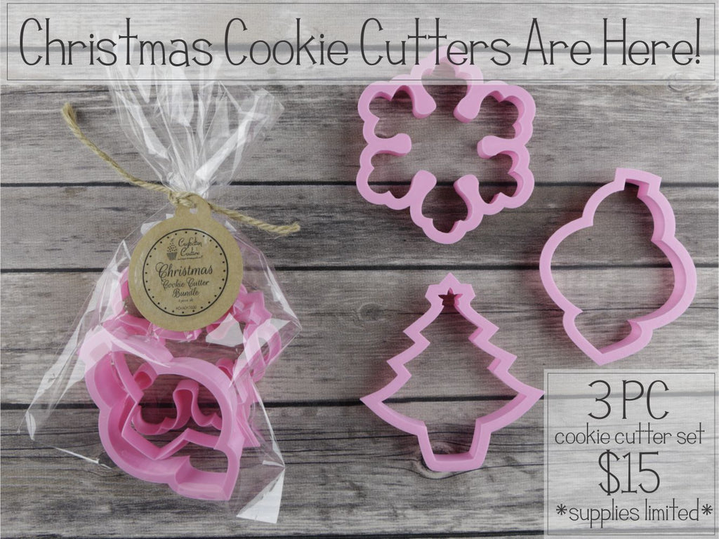 Christmas Cookie Cutter 3 piece set - Specially Priced for you!