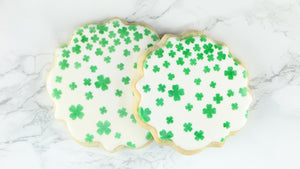 St Patrick's Day Shamrock Shower Cookie Background Stencil