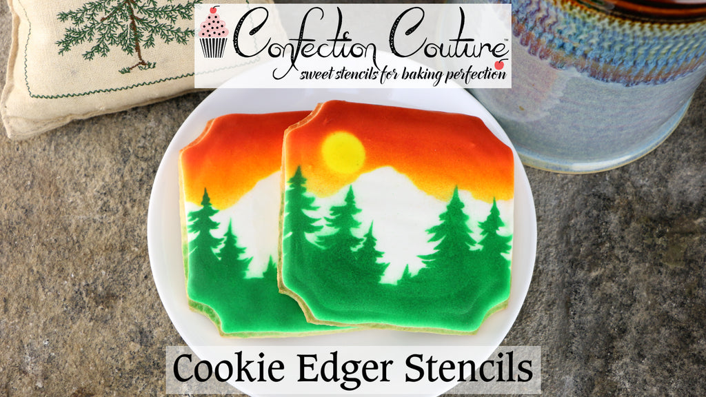 Mountain Forest Cookie Edger Stencils