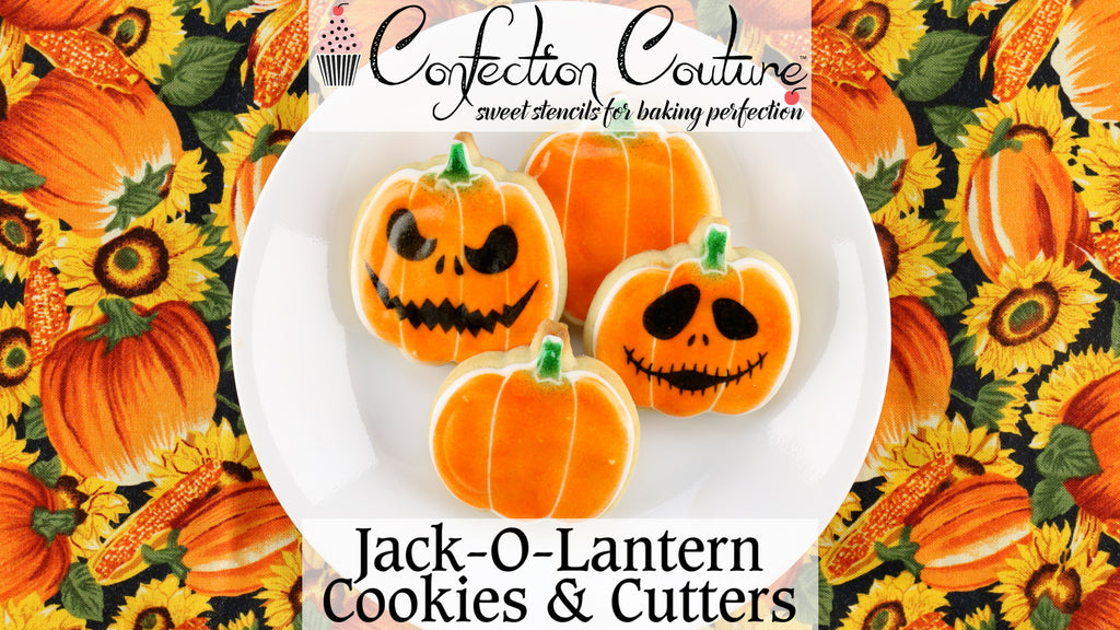 Confection Couture Stencils' Jack-O-Lantern Cookie Cutter and Stencil Set