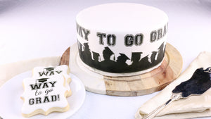 Way to Go Grad Cake and Cookie Stencils